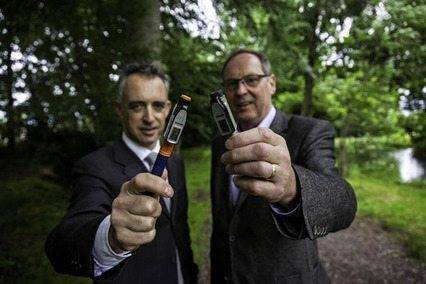 John Phelan, manager of Halo Business Angel Partnership and John Hughes, co-founder and managing director of InsulCheck
