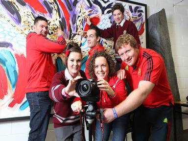 Munster Rugby and Trend Micro team