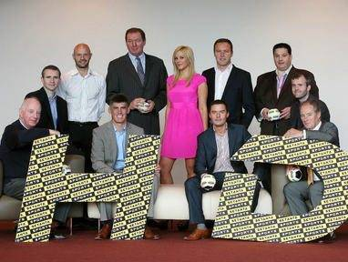 The Setanta team at the launch of the new HD channel