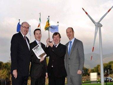 IWEA says Ireland's over-complicated regulatory framework is choking the renewables sector inister for Environment, Community and Local Government Phil Hogan with, from left: Kenneth Mathews, CEO, IWEA, David Gunning, CEO, Coillte and Stephen Wheeler, chairman, IWEA, at the WInd Energy (IWEA) conference in the INEC, Killarney