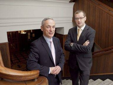 UCC spin-out Keelvar raises €750,000 for expansion Pictured: Minister Richard Bruton and Alan Holland