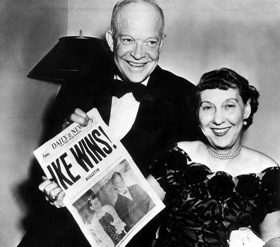 Dwight, Ike Eisenhower with his wife Mamie.
