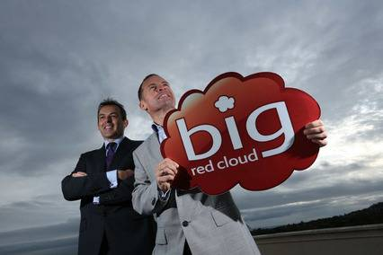 Paul Rellis, MD, Microsoft Ireland and Marc O'Dwyer, CEO, Big Red Book