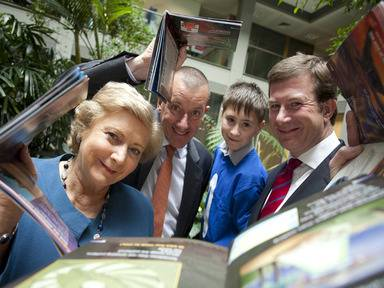 Minister for Children and Youth Affairs Frances Fitzgerald TD; Martin Tomlinson, CEO of Suas; Callum Duff; and Julian Yarr, managing partner, A&L Goodbody;