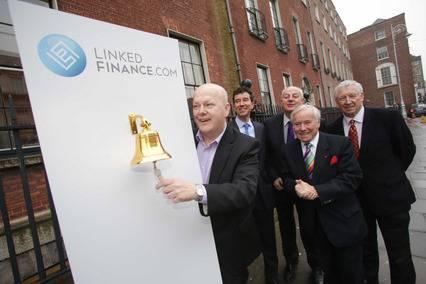 Peter O'Mahony, CEO Linked Finance, Conor Mc Aleese, COO, Linked Finance, Bobby Kerr, Senator