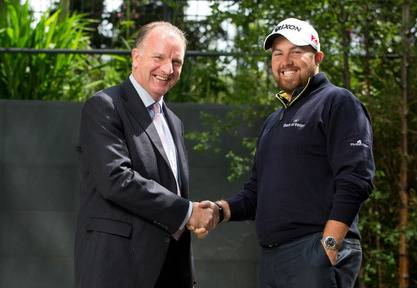 Tom Hayes, chief executive, Bank of Ireland Corporate Bank and Shane Lowry