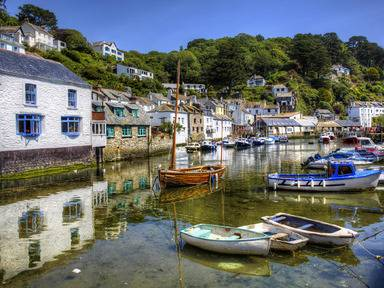 The fishing village of Polperro in Cornwall