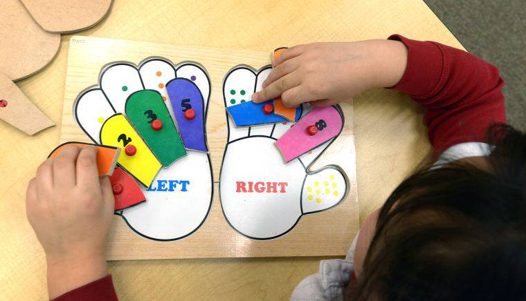 autism teaching aid in a classroom