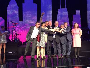 The Dublin Airport team picks up its award in Chicago