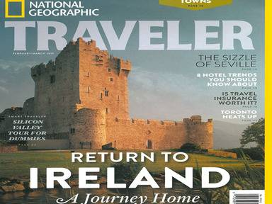 Cover of the latest edition of National Geographic Travel magazine