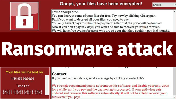 Ransomware is real and a threat.