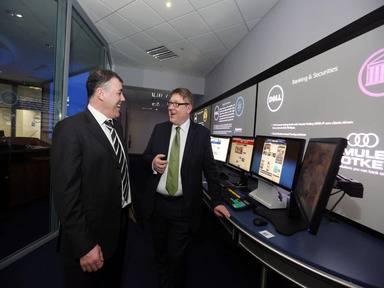 Charles Gillanders, Quintillion and Liam Halpin, general manager, Dell Ireland