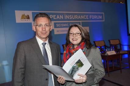 Garvan O'Neill, partner, PwC Insurance Consulting Practice and Sarah Goddard, CEO, DIMA