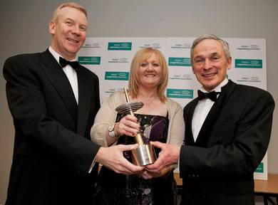 Ann O'Brien, MD of Kent Stainless, winner of the Exporter of the Year 2012 with Colin Lawlor and Minister