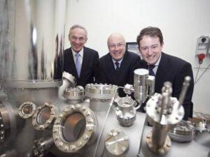 Minister Richard Bruton, Prof Mark Ferguson and Minister Sean Sherlock