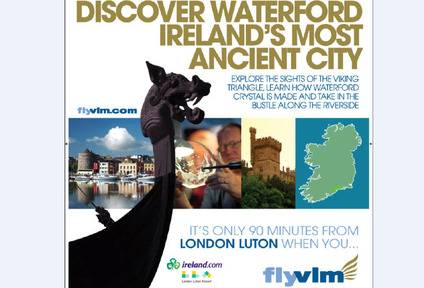 Poster ad on Thameslink trains in the Luton area, part of Tourism Ireland