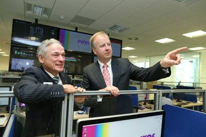 Bob Murray, managing director Evros Technology Group and Richard Bruton, Minister for Jobs Enterprise