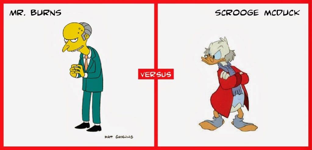 Scrooge McDuck Mr. Burns