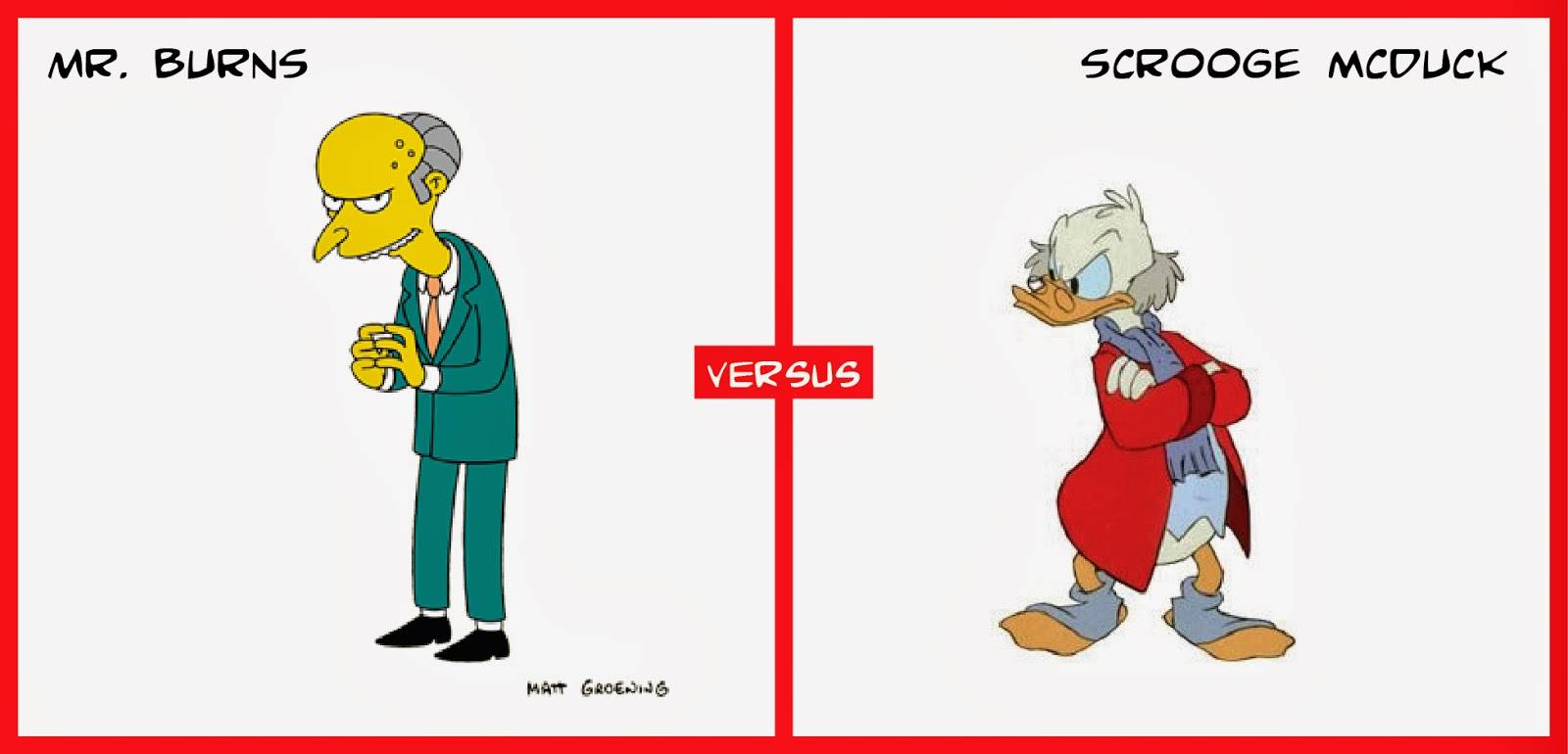 Scrooge McDuck Mr. Burns