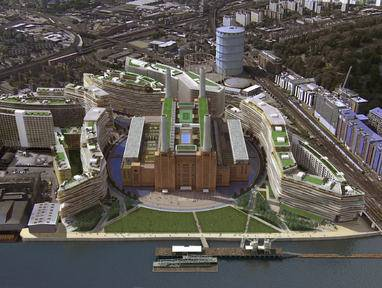 The Battersea Power Station site as it might look once completed